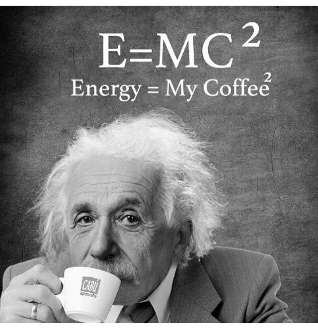E=mc^2 Energy coffee physics Albert Einstein