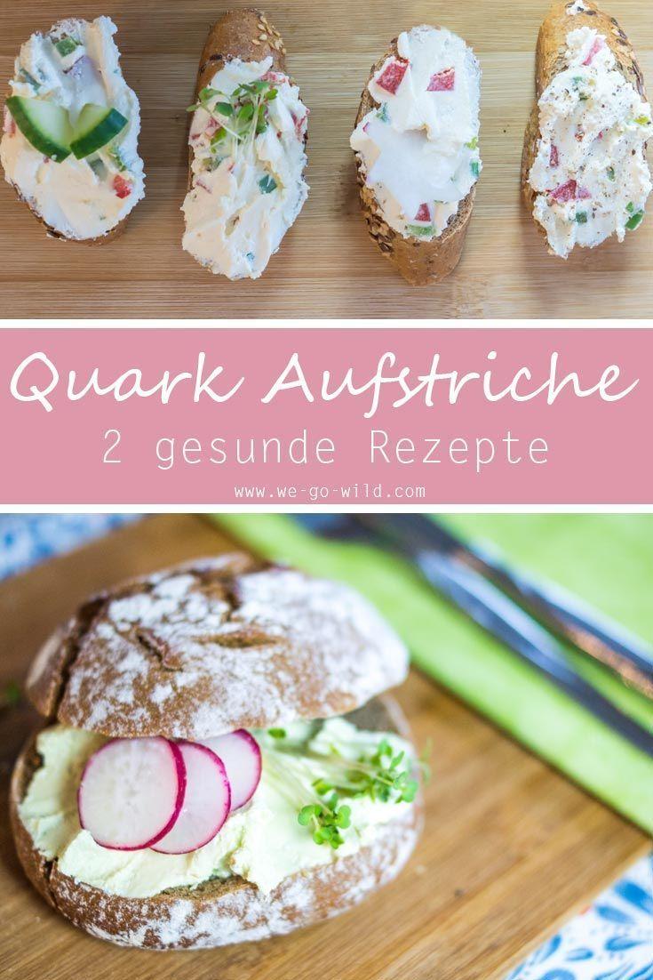 6x gesunder Quark Aufstrich der perfekte Snack für die Mittagspause