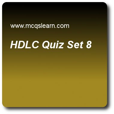 HDL Quizzes: computer networks Quiz 8 Questions and Answers - Practice networking quizzes based questions and answers to study hdlc quiz with answers. Practice MCQs to test learning on hdlc, sonet architecture, simple network management protocol, audio and video compression, frame relay and atm quizzes. Online hdlc worksheets has study guide as in asynchronous balanced mode (abm), link is, answer key with answers as unidirectional, bidirectional, point to point and multipoint to test exam ..