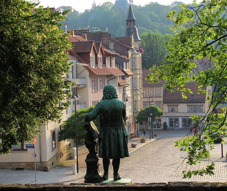 Bachdenkmal, Eisenach, Thüringen, Germany