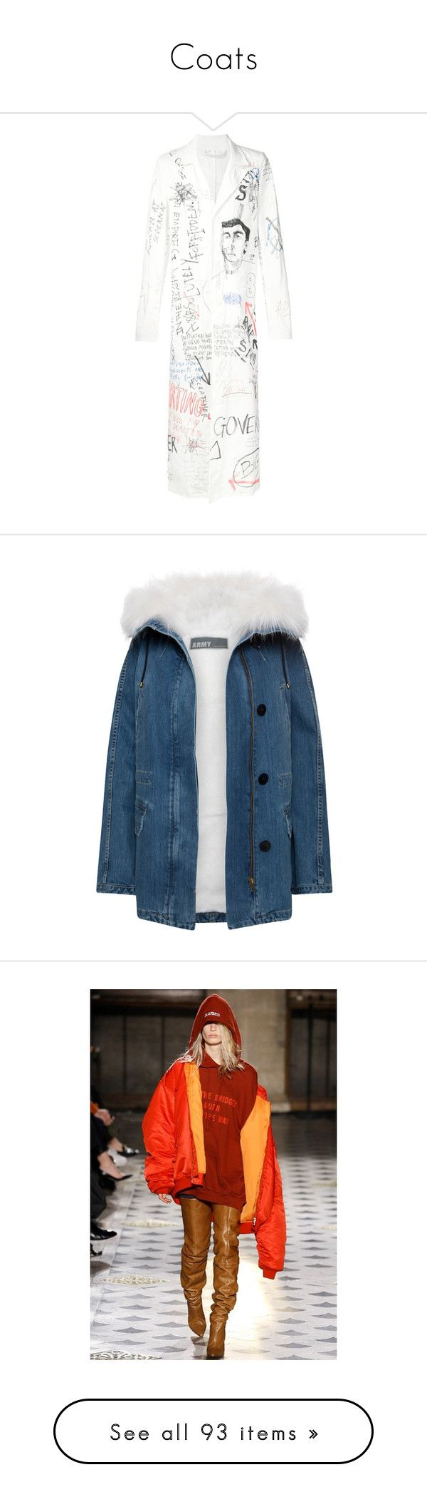"""""""Coats"""" by mollface ❤ liked on Polyvore featuring outerwear, coats, jackets, casaco, blue parka, vintage parka, blue coat, parka coats, denim parka and jewelry"""