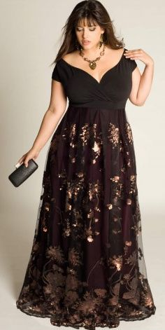 Black Designers Plus Size Women's Clothing Plus Size Evening Gowns for