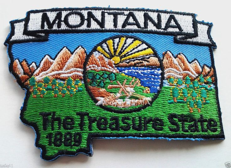 47 best State Maps Embroidered Patches images on Pinterest Biker