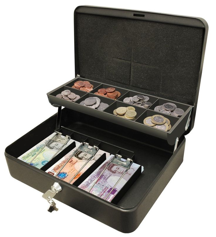 """12"""" petty cash box #black #metal security money safe tray #holder key lock lockab,  View more on the LINK: http://www.zeppy.io/product/gb/2/151935726256/"""