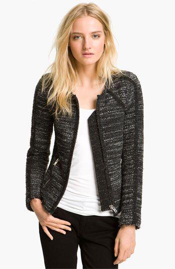 IRO Zip Front Tweed Jacket   Nordstrom