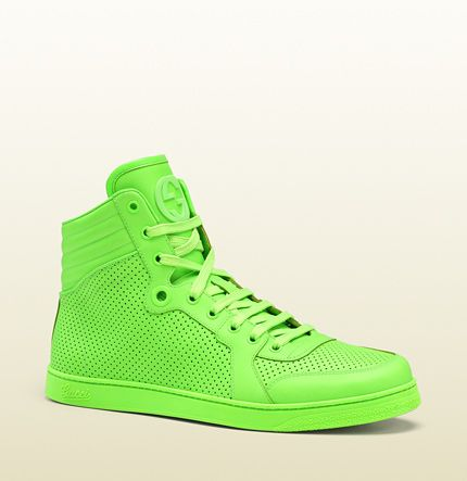 Gucci Neon Green leather high top sneaker #2: 3b1de1f328b57cca57bd16be0a180b8b