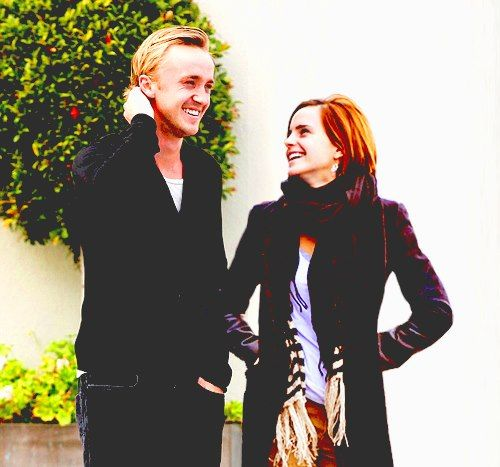 Tom Felton and Emma Watson - so cute!