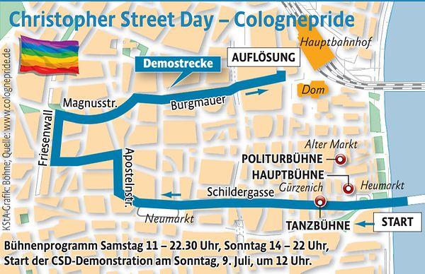 Christopher Street Day: Parade durch Köln gestartet  Neumarkt wieder freigegeben