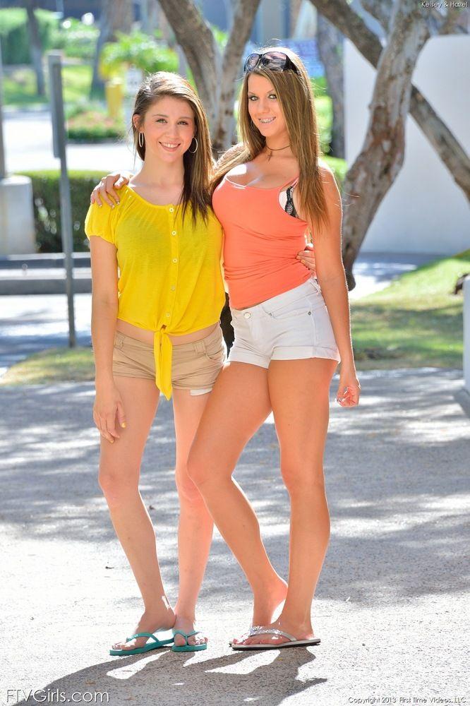 teen girl hot pants topless