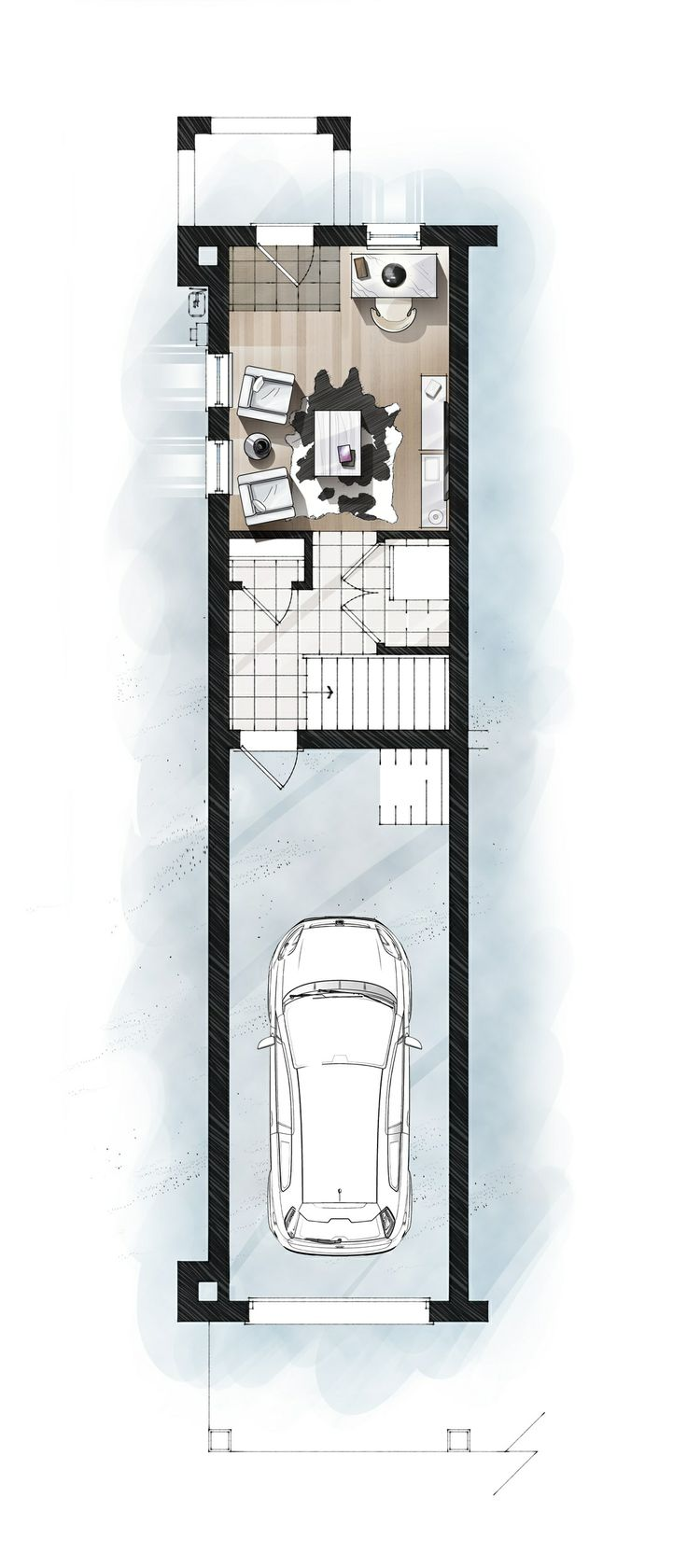 S1 Ground digital furniture/floor plan.  #Uptownes  Design: Jo-Ann Capelaci  Builder: Geranium Homes
