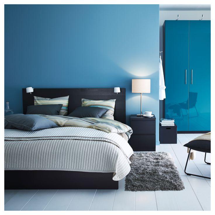 IKEA - MALM Bed frame, high black-brown, Leirsund