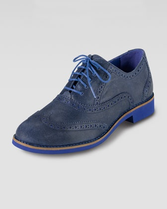 Alisa Oxford, Blue/Cobalt by Cole Haan at Neiman Marcus.
