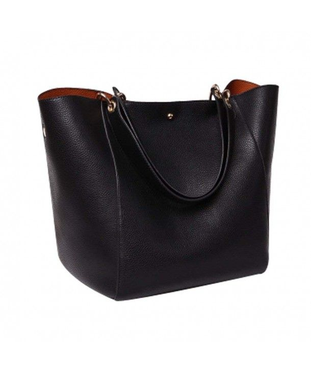 430696bb4a91 PU Leather Large Totes Shoulder Bag With Removable Inside Hand Bag ...