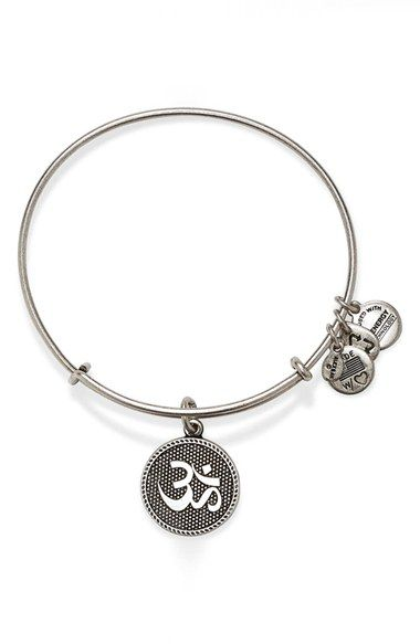 Alex and Ani 'Om II' Expandable Wire Bangle | Nordstrom