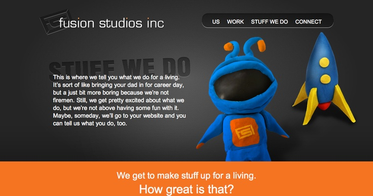 Stuff We Do page Fusion Studios.