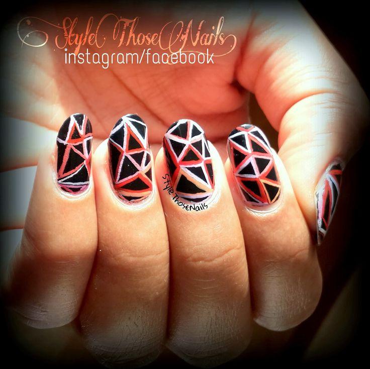 Style Those Nails: Mani Monday- Abstract Free Hand Pattern