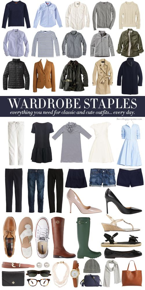 WARDROBE STAPLES | College Prep | Bloglovin'