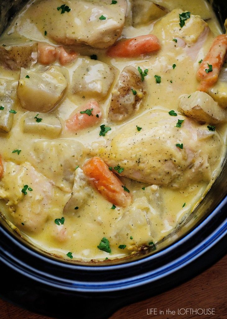 Crock Pot Creamy Ranch Chicken - Life In The Lofthouse