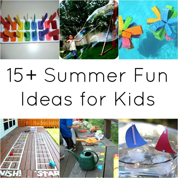 15+ Summer Fun Ideas for Kids | #kids #summer #crafts #activities
