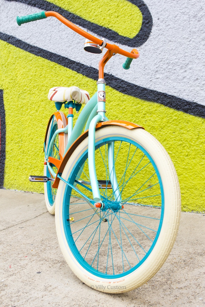 How to customize your bicycle - this Villy Custom bike is totally cool - they even have some with striped wheels!