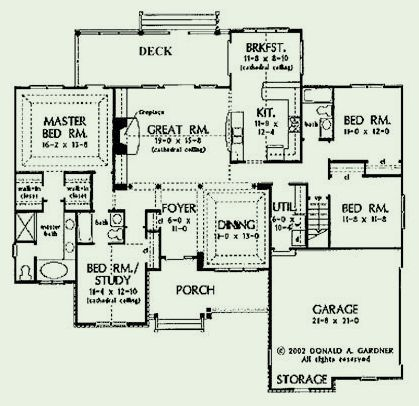 84 best images about floor plans on pinterest - Single story house plans with basement concept ...