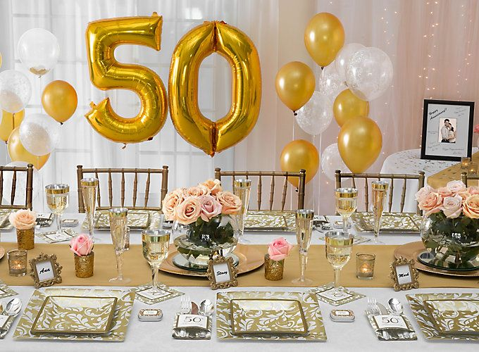 25 best ideas about 50th anniversary parties on pinterest for 50th party decoration