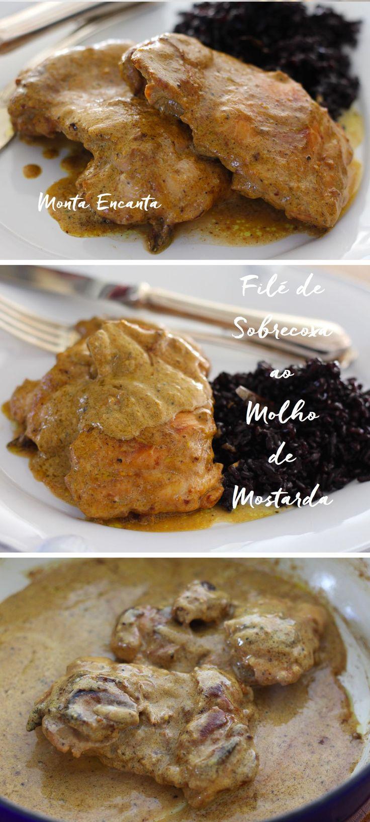 Filé de Sobrecoxa ao Molho mostarda é um clássico francês, fácil de fazer,  sem  segredos, a dica é caprichar na qualidade dos ingredientes e no ponto da carne! Pronto em 15minutos