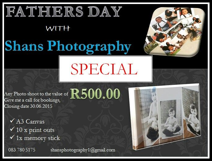 Photography special, fathers day