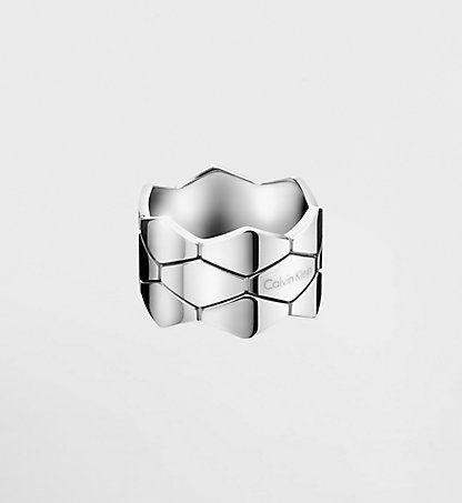 CALVIN KLEIN Bague - Calvin Klein Snake KJ5DMR0002SST