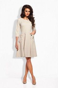 L125 beżowa sukienka