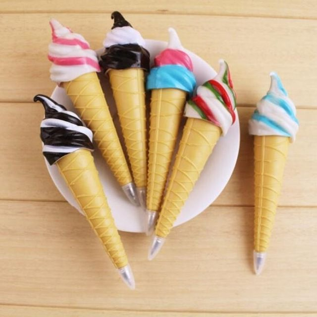 Free shiping!! New Novelty ice cream ball pen/Stationery Ball Point Pen/Office&Study gift Pen/Promotion Pen/Wholesale