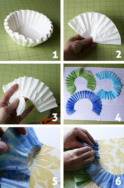 Coffee Filter Ruffles!: Coffee Card For Scrapbook, Paper Ruffles Card, Cupcake Holders, Coff Filters Ruffles, Birthday Idea, Coff Filters Flower, Scrapbook Ruffles, Coffee Filters, Card Scrapbook