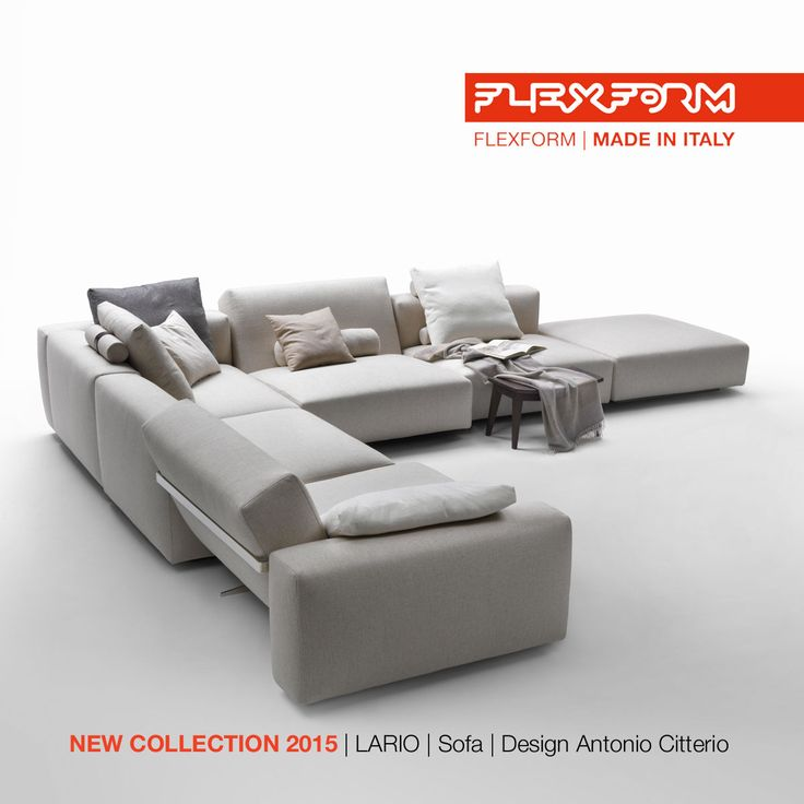 FLEXFORM NEW LARIO SECTIONAL #SOFA, designed by Antonio Citterio. Find out more on www.flexform.it
