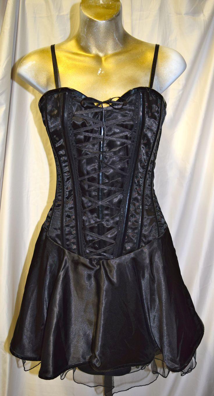 Burleska Corset Dress with Cherry Design Small