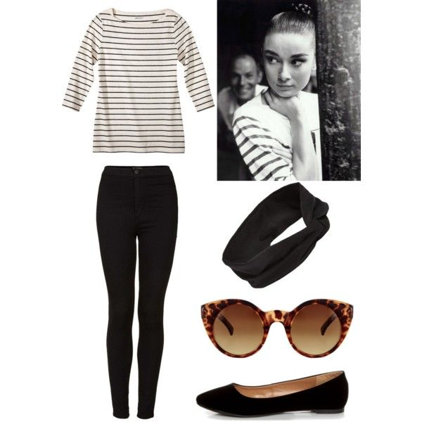 Audrey Hepburn by livinglifelimitlessly on Polyvore featuring Topshop, Classified, Carole, ASOS and Bardot