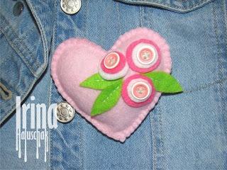 soft heart brooch