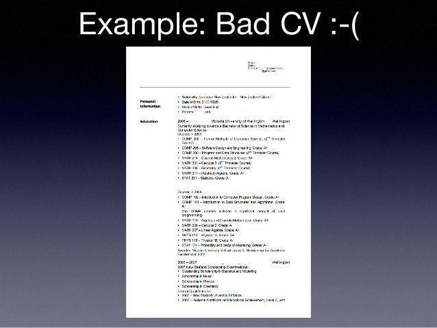 Good Vs Bad Resume Examples Stylish Sot 2015 Career Resume Of 37 Original Good Vs Bad Resume Resume Examples Resume Sample Resume