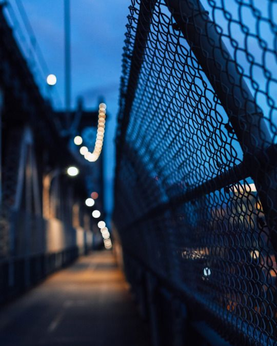 Blue magic on Manhattan Bridge