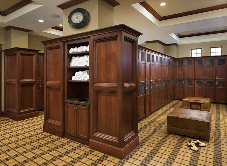men's locker room (how to design a golf club interior - Google Search)