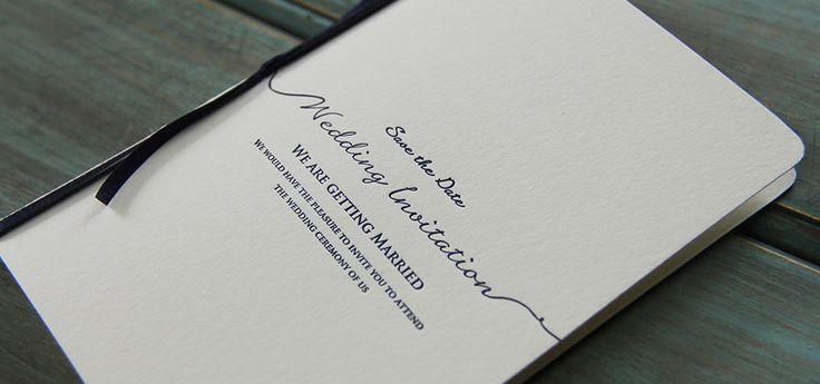 レタープレス。オーセンティックでシンプルな結婚式の招待状一覧♡