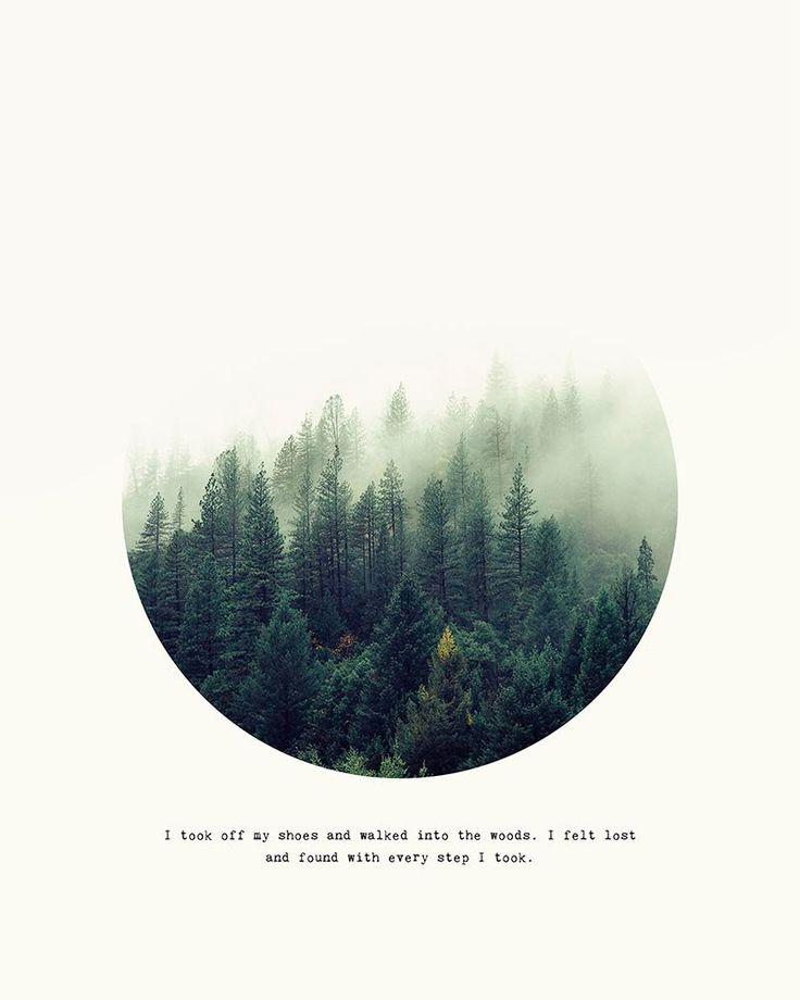 Impression de forêt Cercle inscrit Print Woodland par 1840Atelier