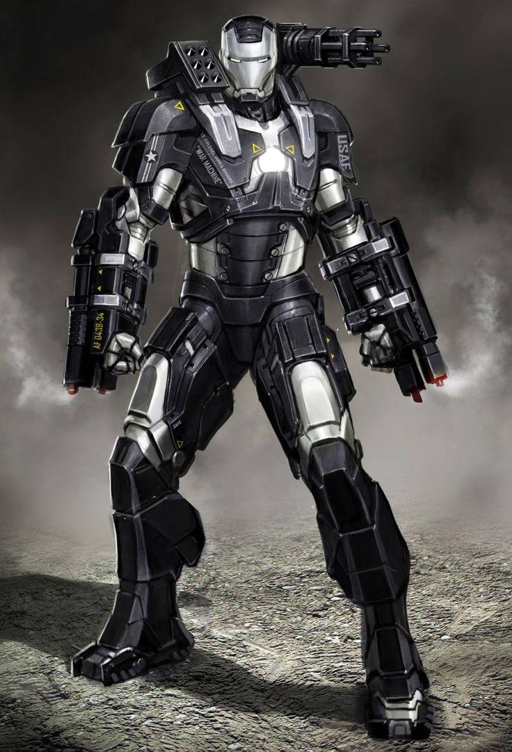 Iron Man 2: War Machine concept art by Ryan Meinerding