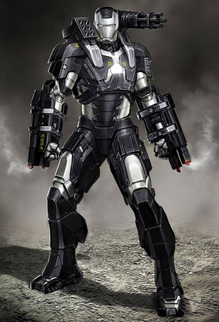 Iron Man 2: War Machine concept art by Ryan Meinerding