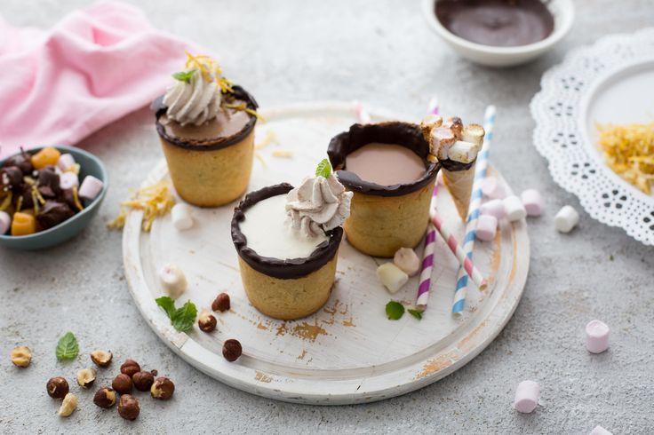 Biscuit cone chocolate freakshakes