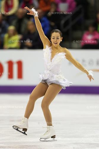 Mao Asada (JPN), .March 16, 2013 - Figure Skating : .ISU World Figure Skating Championships 2013, Women's Free Skating .at Budweiser Gardens, London, Canada. .(Photo by Daiju Kitamura/AFLO SPORT)