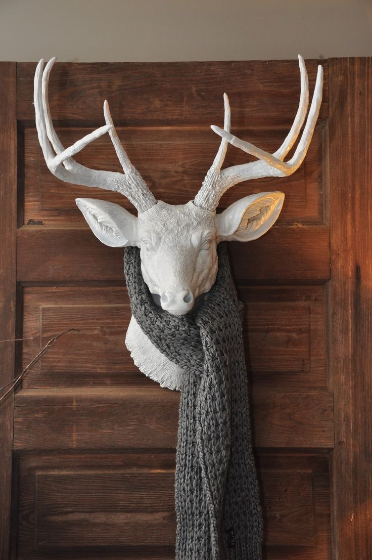 142 best decor with deer ideas images on pinterest christmas decorative deer head with its own accessories amipublicfo Images