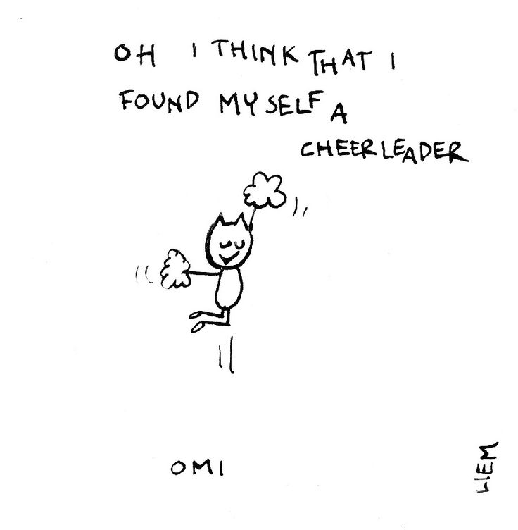 OMI. Cheerleader. 365 illustrated lyrics project, Brigitte Liem.