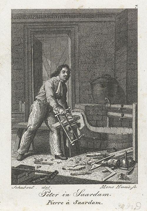 Петр I в Зандаме, Голландия. 1697 год Rijksmuseum, Amsterdam