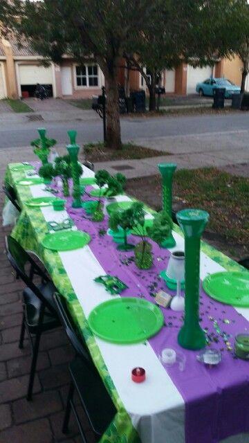 #st.patricksday #birthday #purpleandgreen