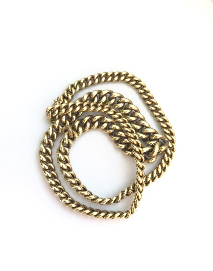 A personal favorite from my Etsy shop https://www.etsy.com/listing/499956946/sale-vintage-gold-chain-mid-century-gold
